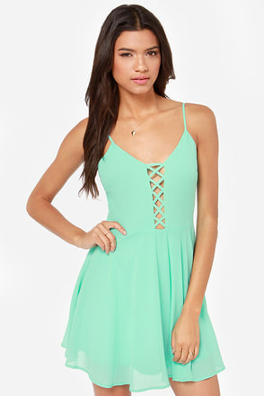 Show Me Love Cutout Mint Green Dress at Lulus.com!