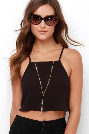 Dee Elle Tightrope Trekker Black Lace Crop Top at Lulus.com!