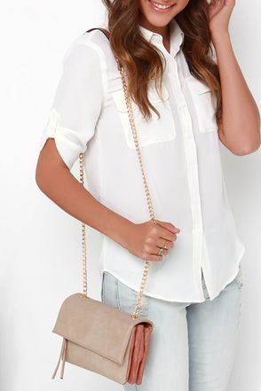 Catch Me if You Can Brick Red and Taupe Purse at Lulus.com!
