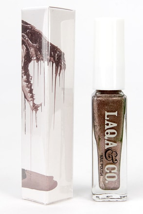 LAQA & Co. Ankle Biter Rose Gold Nail Polish at Lulus.com!