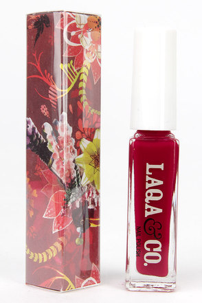 LAQA & Co. Greedy Guts Red Nail Polish at Lulus.com!