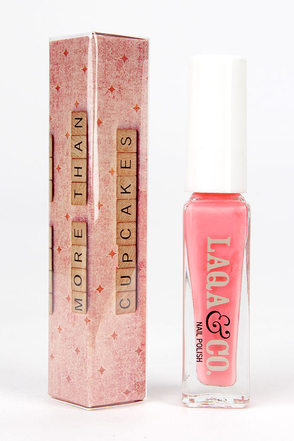 LAQA & Co. Tweedledee Coral Nail Polish at Lulus.com!
