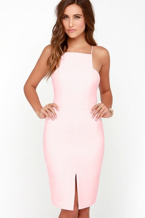 Keepsake Restless Heart Light Pink Midi Dress at Lulus.com!