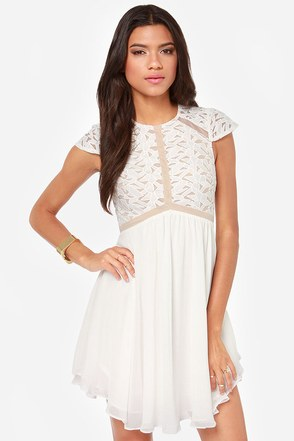 Lumier Heart of Glass Ivory Dress