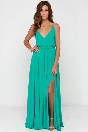 Chic Green Dress Maxi Dress 9600