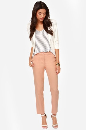 Love on the Rocks Peach Pants