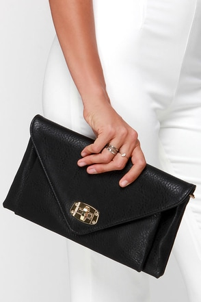 Out Tonight Black Clutch at Lulus.com!