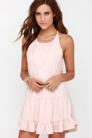 Along the Promenade Blush Pink Dress at Lulus.com!