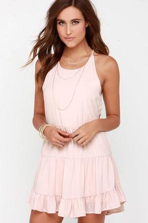 Along the Promenade Blush Pink Dress at Lulus.com!