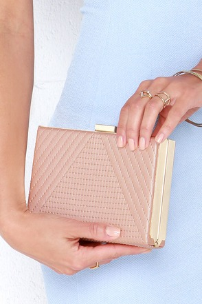 Crew Love Rose Gold Clutch at Lulus.com!