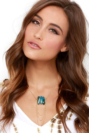 Fountain of Youth Blue Crystal Necklace at Lulus.com!