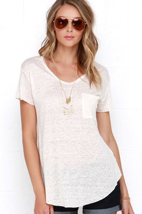 Now or Clever Cream Tee at Lulus.com!