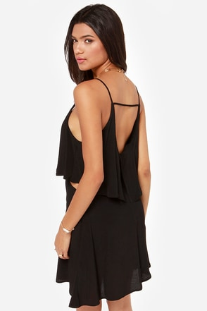 Let It Burn Cutout Black Dress