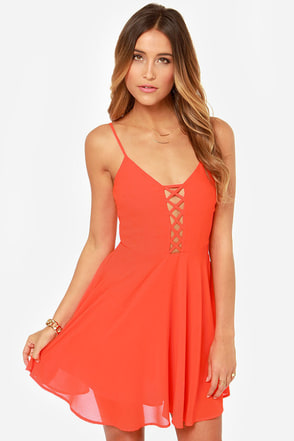 Show Me Love Cutout Bright Red Dress