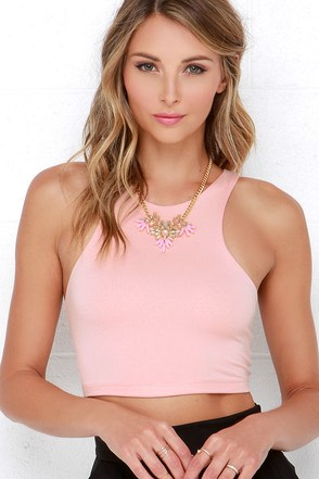 All Fired Up Peach Crop Top at Lulus.com!