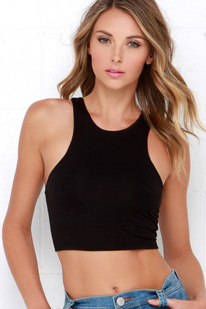 All Fired Up Heather Grey Crop Top at Lulus.com!