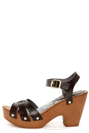 Madden Girl Cindiee Black Platform High Heel Sandals