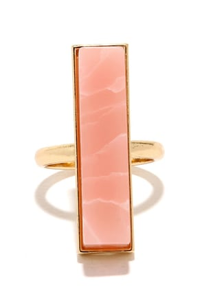 To Each Her Stone Pink Crystal Ring at Lulus.com!