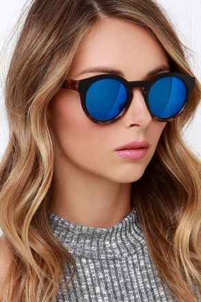 Cold Brew Black Tortoise Sunglasses at Lulus.com!