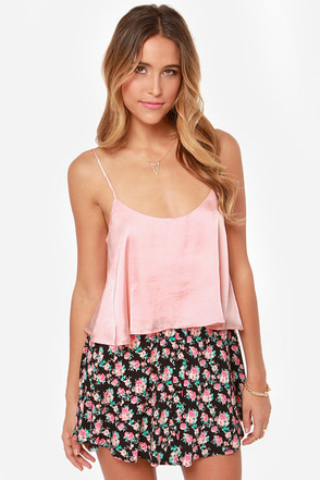 Queen of the Cropped Blush Pink Crop Top