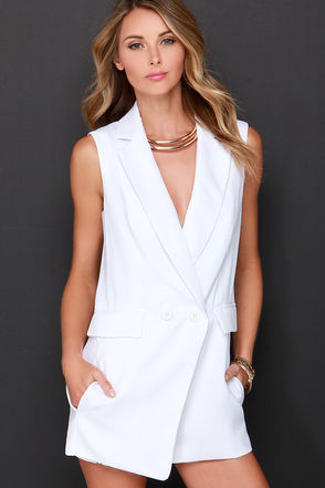 Whistle While You Werk Ivory Romper at Lulus.com!