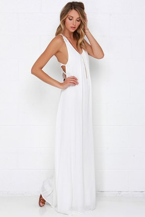 Walk on the Moon Ivory Lace Maxi Dress at Lulus.com!