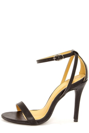 Shoe Republic LA Najana Blue Ankle Strap Heels
