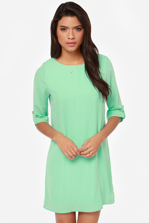 Love You More Mint Shift Dress