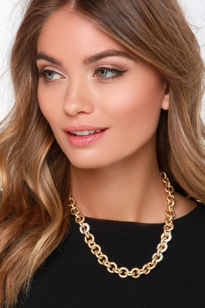Such a Linker Gold Chain Necklace at Lulus.com!