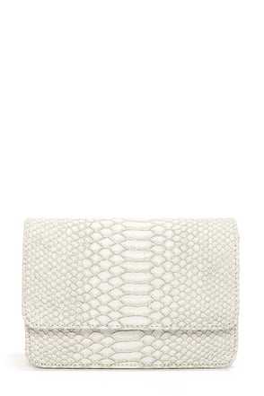 Next of Snakeskin Ivory Purse at Lulus.com!