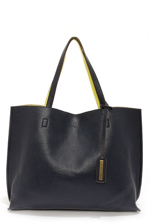 Switch it Up Reversible Navy Blue Tote