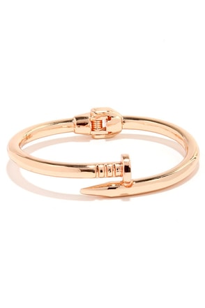 Hardware and When Rose Gold Nail Bracelet at Lulus.com!
