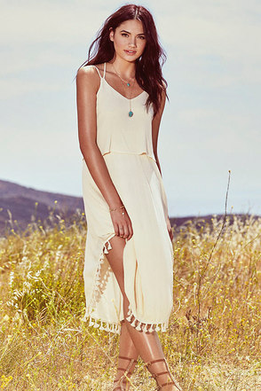 Colada Love Cream Midi Dress at Lulus.com!