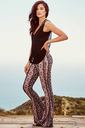 Pop Festival Black Paisley Print Pants at Lulus.com!