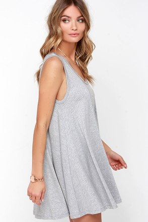 That's So Fetch Heather Grey Swing Dress at Lulus.com!