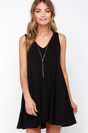 That's So Fetch Black Swing Dress at Lulus.com!