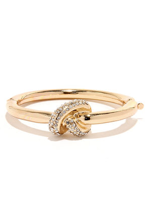 Knotty Habit Gold Knot Bracelet at Lulus.com!