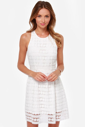 BB Dakota Andree White Lace Dress