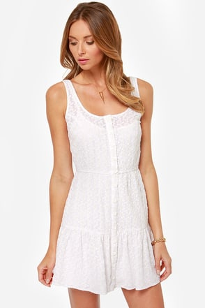BB Dakota Leesha Embroidered White Dress