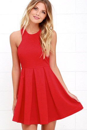 Mission Com-pleat Red Dress at Lulus.com!
