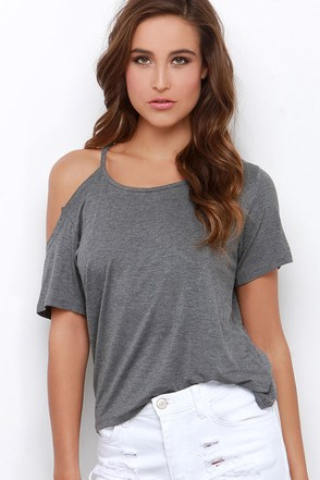 Brave the Elements Grey Tee at Lulus.com!