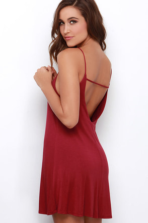 Won Way Street Burgundy Dress at Lulus.com!