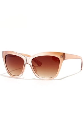 Fancy Seeing You Here Blush Sunglasses at Lulus.com!