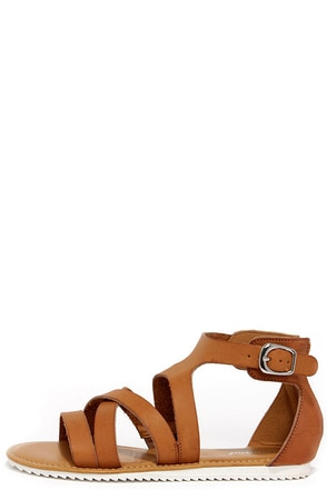 Saw You There Tan Sandals at Lulus.com!