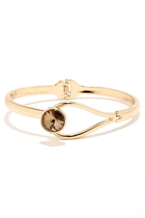 Secret Smile Amber Rhinestone Bracelet at Lulus.com!