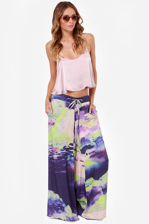 Somedays Lovin' Electric Volcano Purple Print Pants