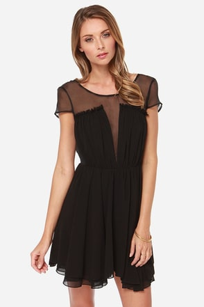 Keepsake After Dark Backless Black Dress