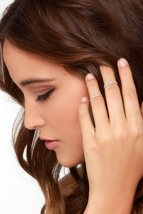 Simply Put Gold Knuckle Ring Set at Lulus.com!
