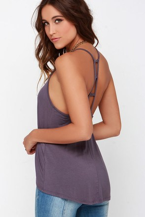 Munificent Gift Dusty Purple Tank Top at Lulus.com!