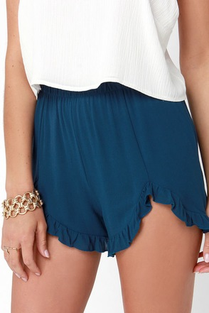She's All That Navy Blue Shorts at Lulus.com!